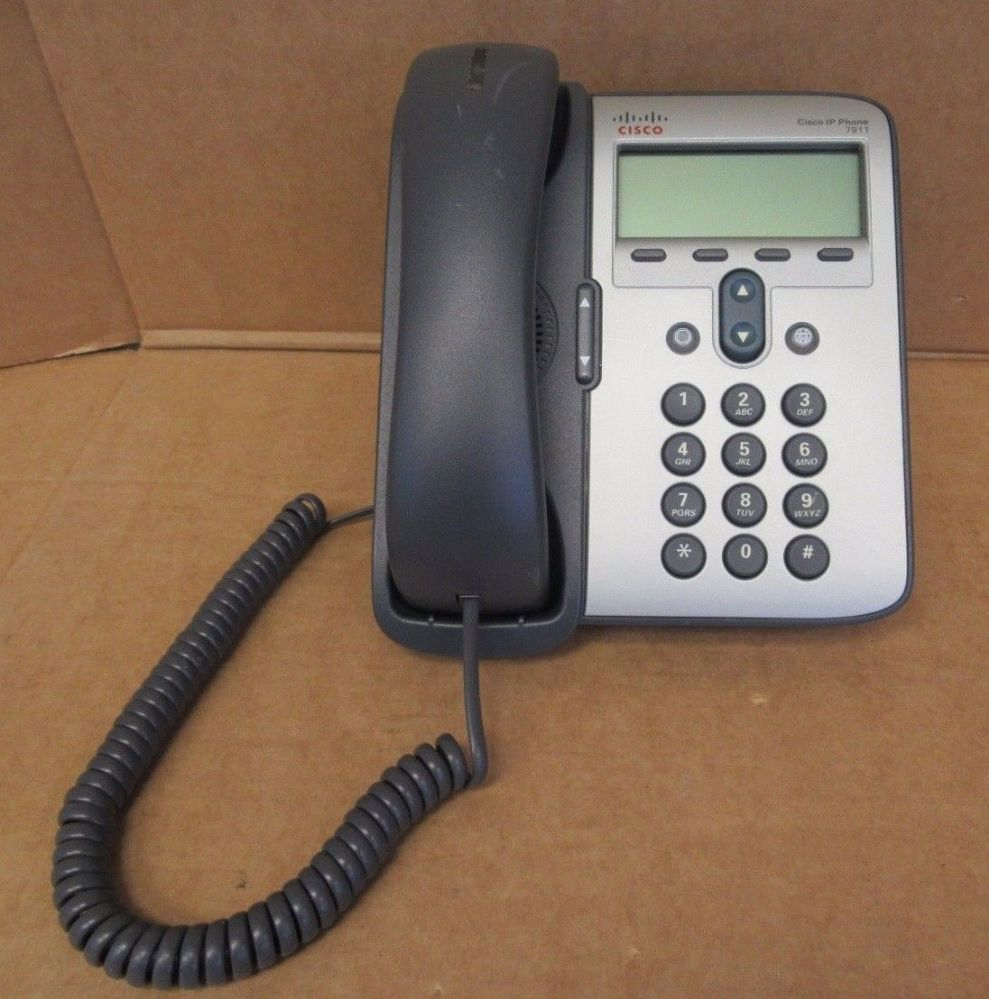 Cisco IP 7911G CP-7911G Business VoIP Phone w/ Stand + Handset 68-2779-09